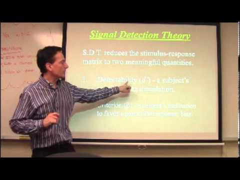Signal Detection Theory Part 1