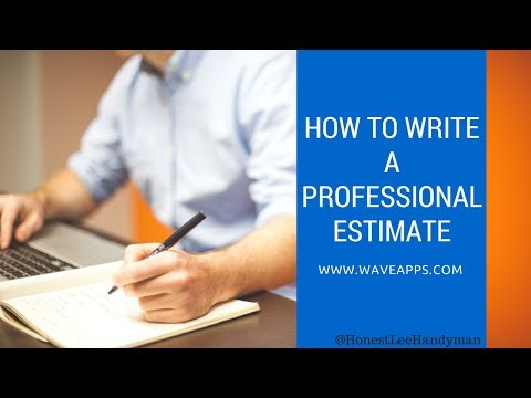 How to Write a Professional Estimate / Best Estimating Software / It's Free Too!