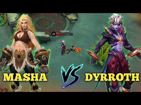 MASHA Vs DYRROTH - BATTLE NEW HERO Mobile Legends