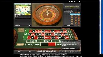 Playing for 10p stakes on Even Chances at William Hill live Casino -