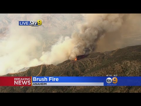 91 Freeway Affected By 250-Acre Brush Fire In Anaheim