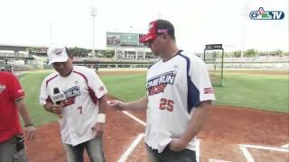 26 全壘打大賽 賽前,Ivan Rodriguez和Jason Giambi向台灣球迷表達感謝致意