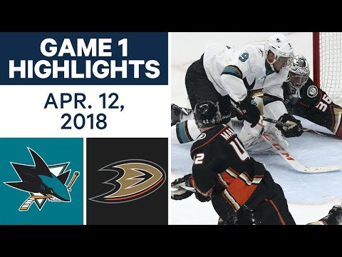 NHL Highlights | Sharks vs. Ducks, Game 1 - Apr. 12, 2018