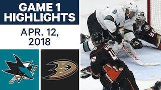 NHL Highlights   Sharks vs. Ducks, Game 1 - Apr. 12, 2018
