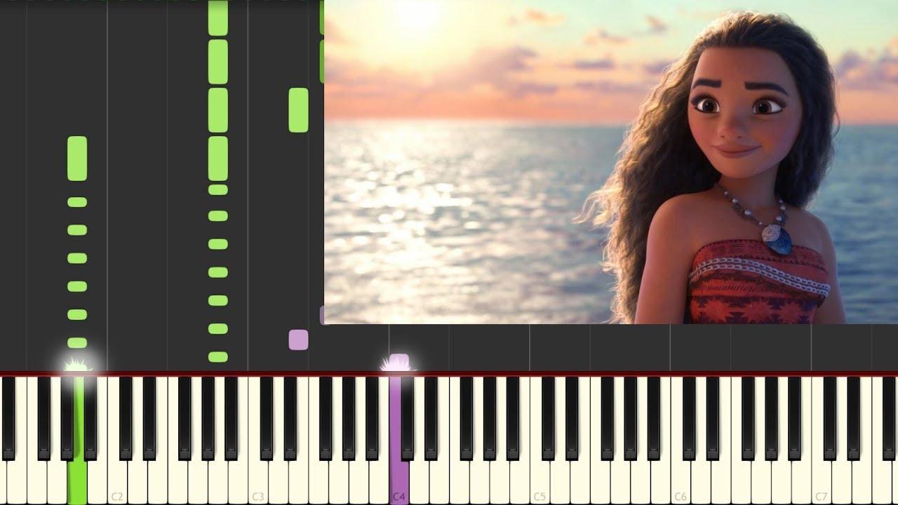 moana how far i go piano pdf