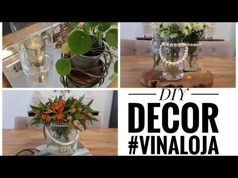 DIY - DECOR GASTANDO POUCO - vasos para flores-lanternas ou porta velas