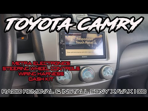 TOYOTA CAMRY RADIO REMOVAL AND SONY XAVAX100 STEREO INSTALL WITH STEERING WHEEL CONTROLS  HOW TO