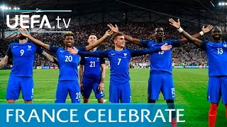 France celebrations vs Germany in full. Iceland's hand clap