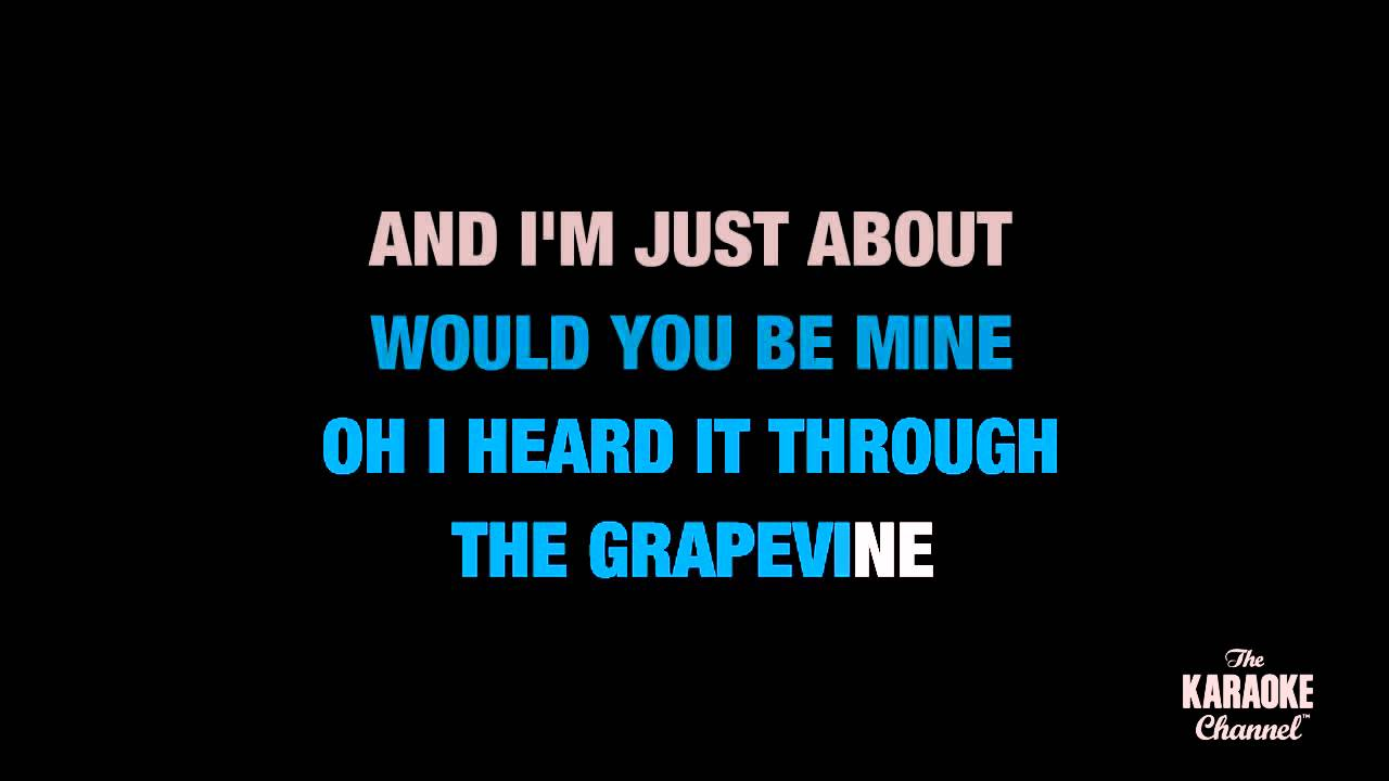 I Heard It Through The Grapevine in the Style of 'Marvin Gaye' with lyrics (no lead vocal)