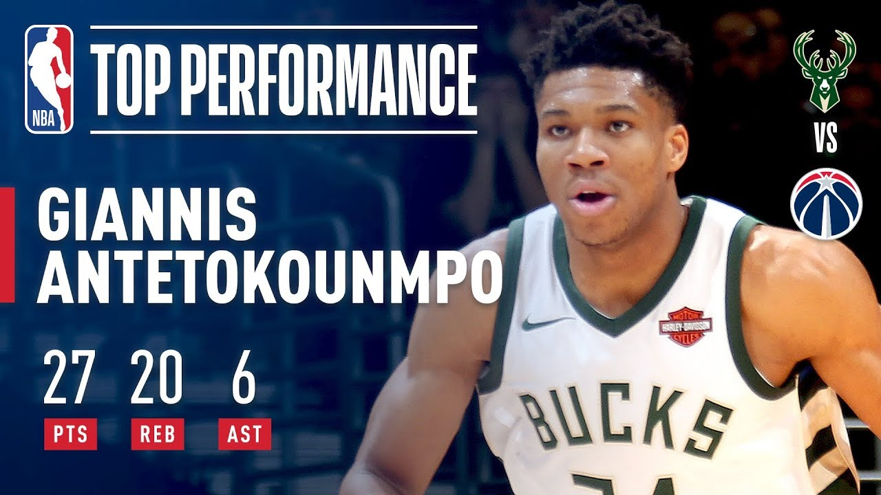 Giannis Antetokounmpo Goes OFF for 27   20 vs Wizards  aee68cb68
