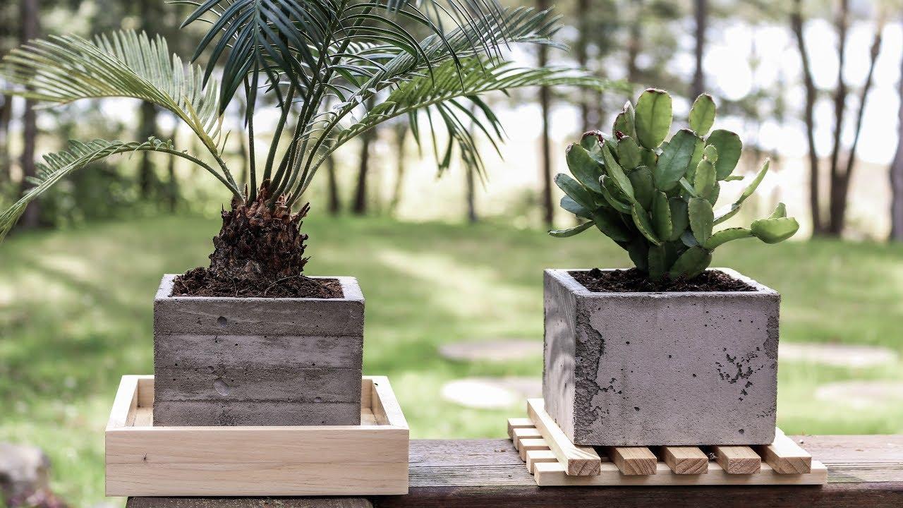 Diy Concrete Planters Board Formed Concrete Youtube