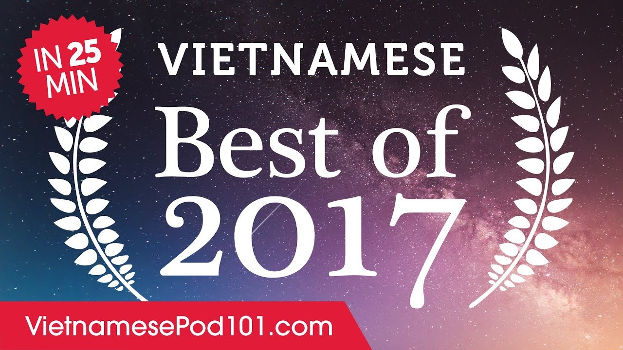Learn Vietnamese in 25 minutes - The Best of 2017