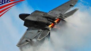 F-22 Raptor Stealth Fighter Amazing Aerobatics Demo Flight