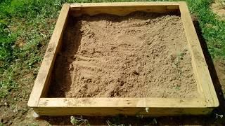 песочница из поддонов своими руками