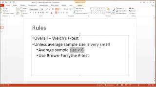 Welch's F-test vs Brown-Forsythe F-test: Which Should You Use and When?