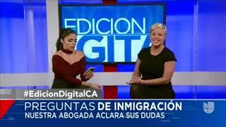 Amira Al Alami en Univision Noticias Edición Digital el 1ro d…