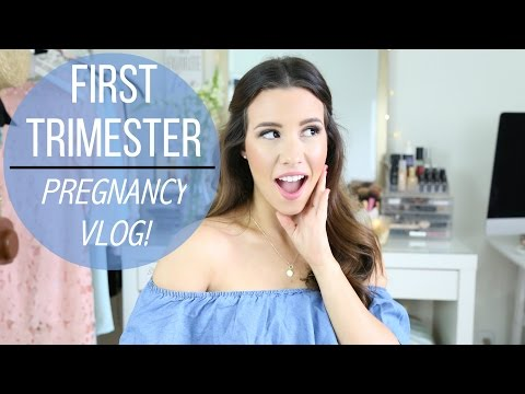 First Trimester Pregnancy Vlog: Morning Sickness, Bump Shot | hayleypaige