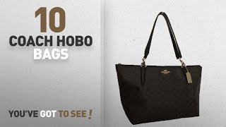Top 10 Coach Hobo Bags For Women: Coach Signature AVA Tote Purse Shoulder Bag Handbag