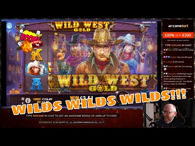 Wilds Wilds Wilds in Wild West Gold!! MEGA Win