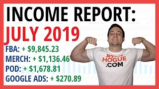 PASSIVE INCOME REPORT 💰 July 2019 | +$12,931.39 PROFIT - New Amazon FBA SKU is VERY Promising !