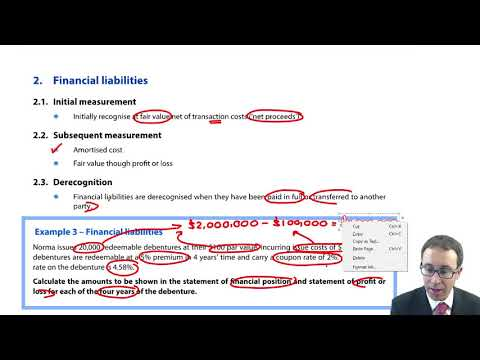 Financial liabilities - ACCA (SBR) lectures