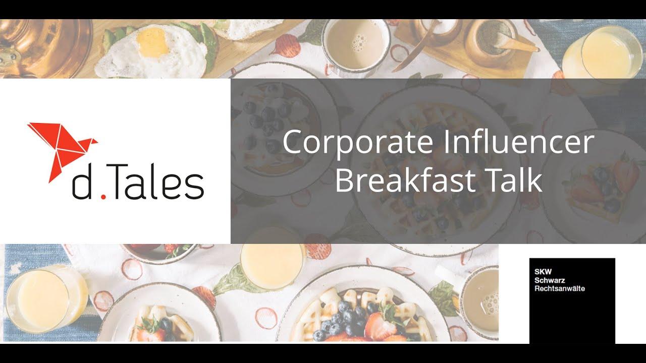 Corporate Influencer Breakfast #3: Recht mit Stefan Schicker