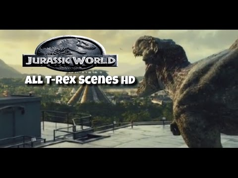 Jurassic World - All T-Rex Scenes (HD) - Ruslar.Biz