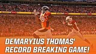 Demaryius Thomas Breaks Franchise Record For Receiving Yards in One Game! || Throwback Highlights