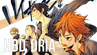 "[HBD DRIA] ENGLISH ""FLY HIGH!!"" Haikyuu!! II (Akane Sasu Sora)"