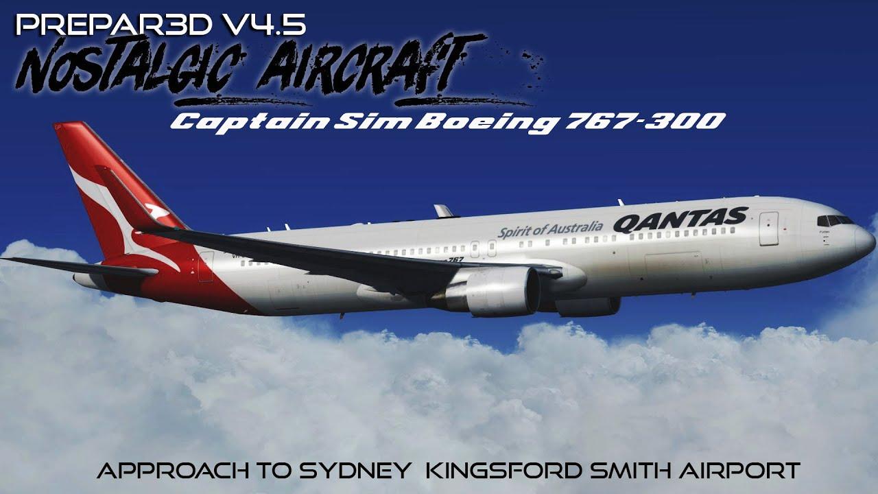 [P3DV4 5] Qantas |Boeing 767 300 | Approach to Sydney