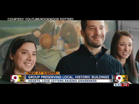 Group uses hearts to show love for preserving old buildings