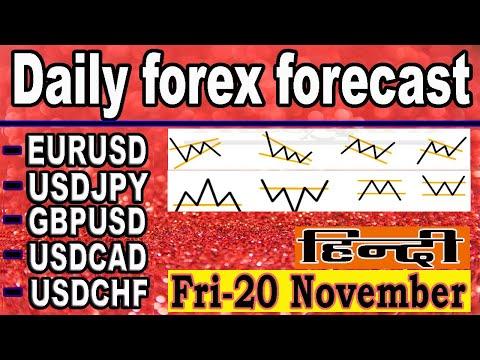 (20  NOVEMBER )  daily forex forecast | EURUSD | USDJPY | GPBUSD | USDCAD | USDCHF | forex | Hindi |