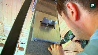 Монтаж шибера в готовый керамический дымоход. Мастер-класс