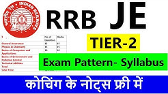 RRB JE Tier-2 Exam Pattern 2019 | Syllabus | Notes | RRB JE study Material | PDF |