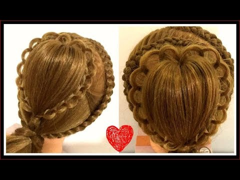 BEAUTIFUL HEART  HAIRSTYLE / HairGlamour Styles /  Hairstyle Tutorials thumbnail