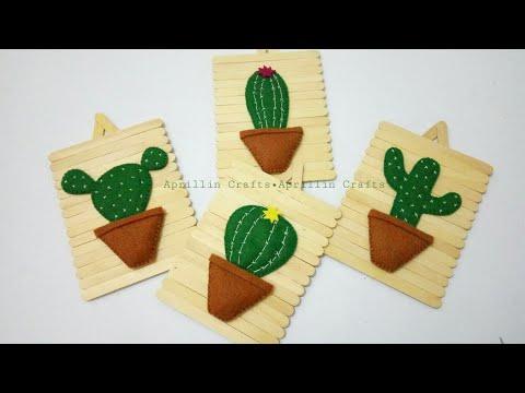 Diy popsicle stick crafts||Diy wall hanging ideas||Diy hiasan dinding stik es krim dan kain flanel