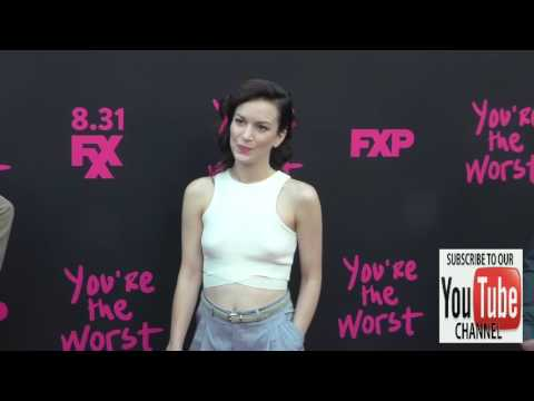 Britt Lower at the Premiere Of FXX's You're The Worst Season 3 at NeueHouse in Hollywood