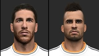 PES 2014 • Real Madrid Facepack vol1 | Download • HD Thumbnail