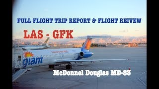 #54: ALLEGIANT AIR MD-83 | NEARLY A DIVERSION?! | Flight Trip Report | LAS - GFK G4484