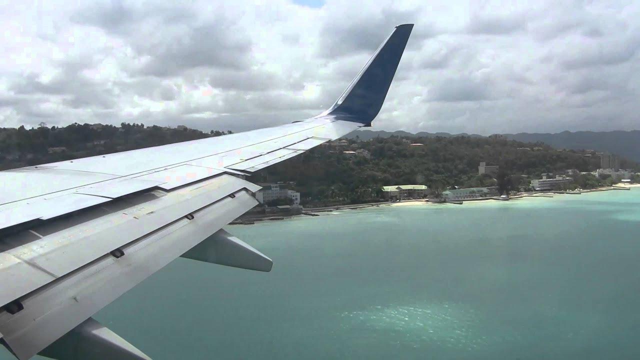 Hd Delta 737 800 N3736c Landing Montego Bay Jamaica