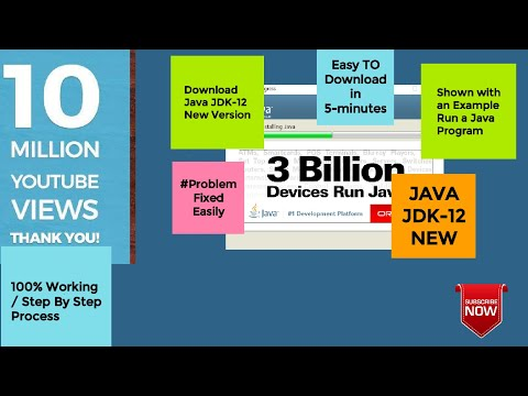 Java Jdk-12(New Version) Download and install Easily and RUN a small  program | Step By Step Proc