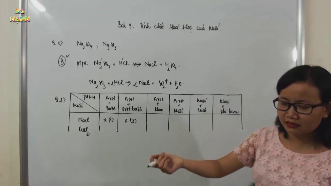 [ Hóa 9 ] Bài 9 – Tính chất hóa học của muối (SBT) phần 1