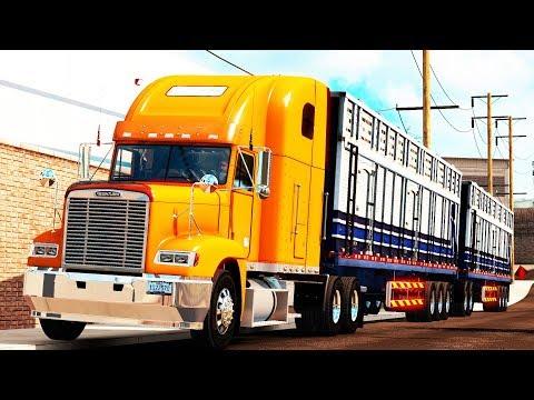 Freightliner FLD 120 | Doble de Jaulas Graneleras Ferbus Hacia Guanaceví, Durango.