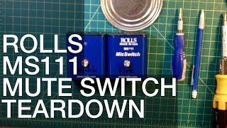 Rolls MS111 XLR Mic Mute Switch Teardown