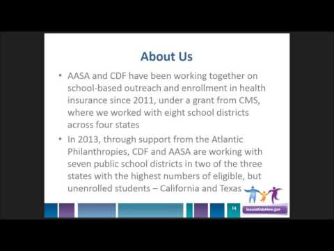 Webinar: School-Based Outreach Strategies to Reach Medicaid & CHIP-Eligible Students (4/5/16)