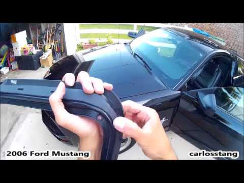 2006 Ford Mustang Water Leak Doors Weatherstrips