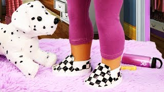 DIY American Girl Checkered Vans Slip On Shoes