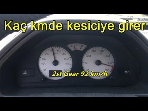 Peugeot 106 Quiksilver Maximum Speed Test (1st 2nd 3rd Gear)