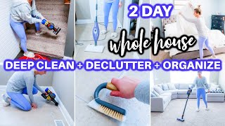 *HUGE* EXTREME WHOLE HOUSE CLEAN WITH ME 2021 | ALL DAY SPEED CLEANING MOTIVATIO