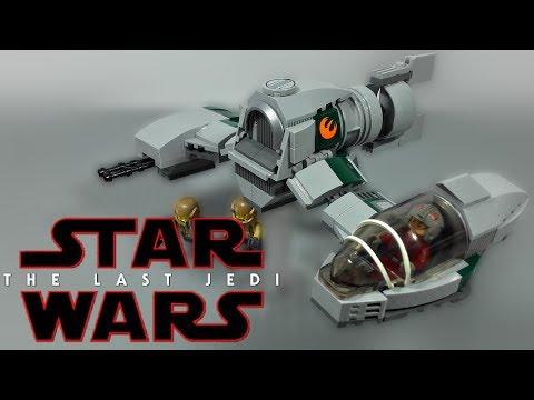 LEGO Star Wars The Last Jedi - Phoenix Resistance Ski Speeder MOC - Review
